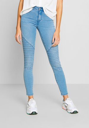 ONLROYAL REG BIKER - Skinny džíny - light blue denim