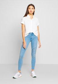 ONLY - ONLROYAL REG BIKER - Jeans Skinny Fit - light blue denim - 1