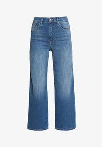 ONLY - ONLMADISON CROP - Jeans bootcut - dark blue denim - 3