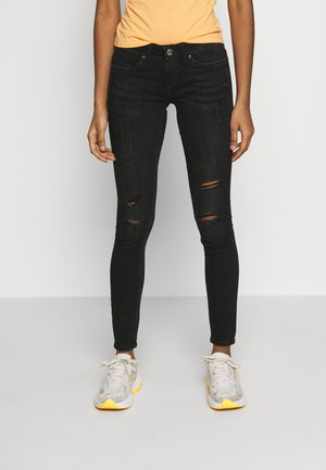 ONLCORAL - Jeansy Skinny Fit - black