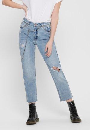 ONLERIN HW  - Straight leg jeans - medium blue denim
