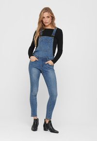 ONLY - Dungarees - medium blue denim - 1