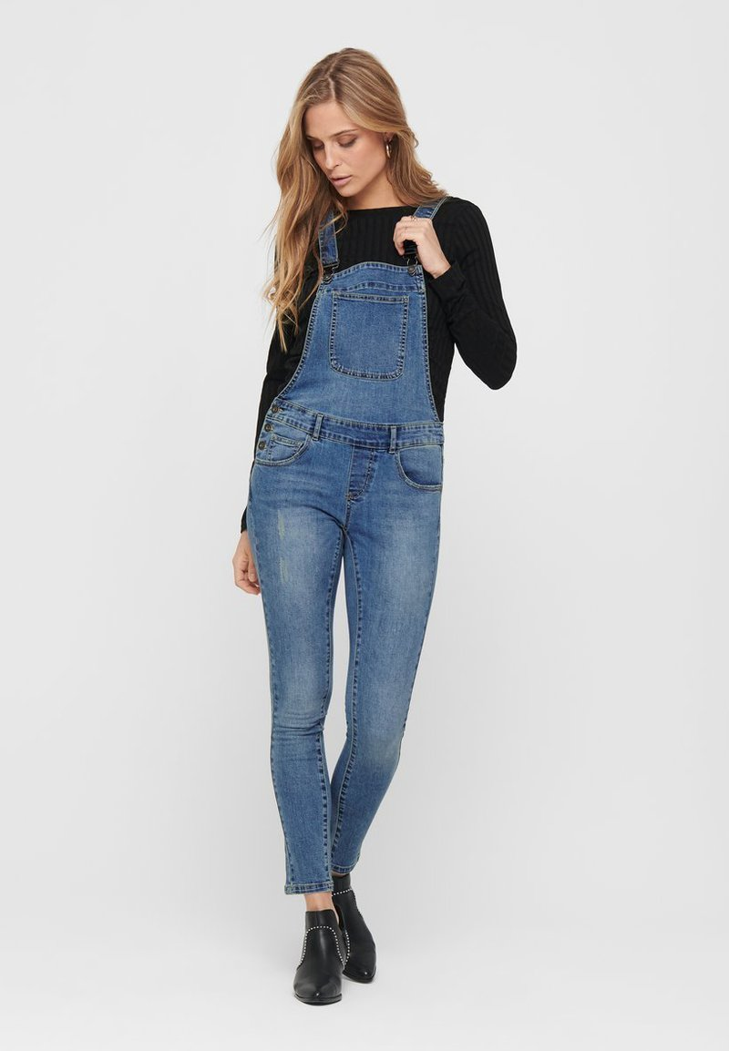 ONLY - Dungarees - medium blue denim
