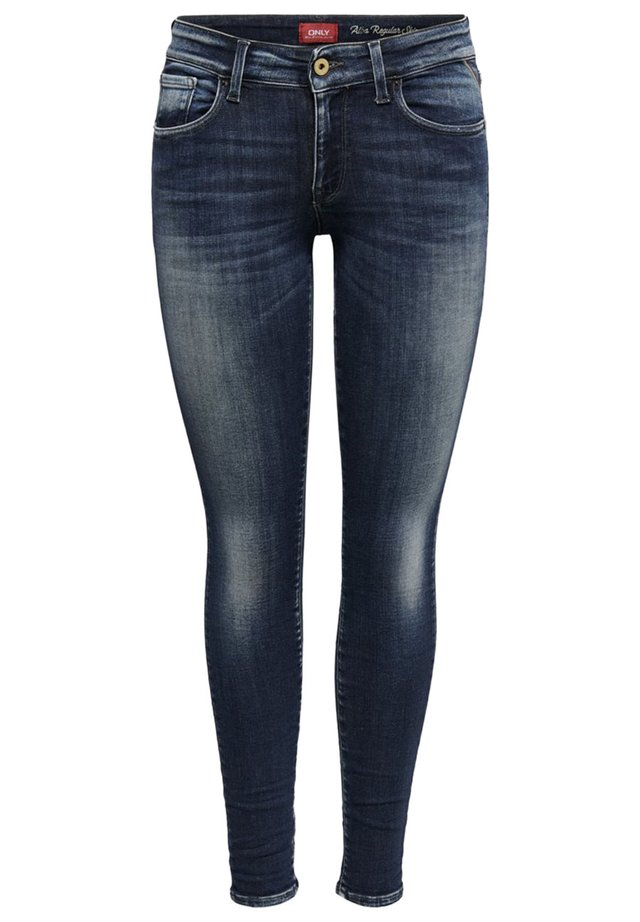 ONLY SKINNY FIT JEANS ONLALBA LIFE REG ANKLE - Vaqueros pitillo - dark blue denim