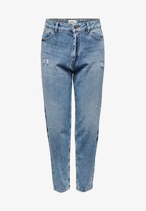ONLY STRAIGHT FIT JEANS ONLTOBI LIFE MID CARROT - Relaxed fit jeans - medium blue denim
