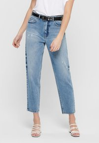 ONLY - ONLY STRAIGHT FIT JEANS ONLTOBI LIFE MID CARROT - Relaxed fit jeans - medium blue denim - 0