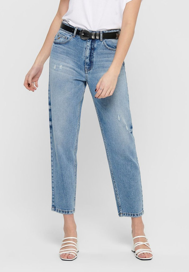 ONLY - ONLY STRAIGHT FIT JEANS ONLTOBI LIFE MID CARROT - Relaxed fit jeans - medium blue denim