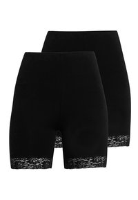 ONLY - ONLLIVE LOVES 2 PACK - Shorts - black - 0