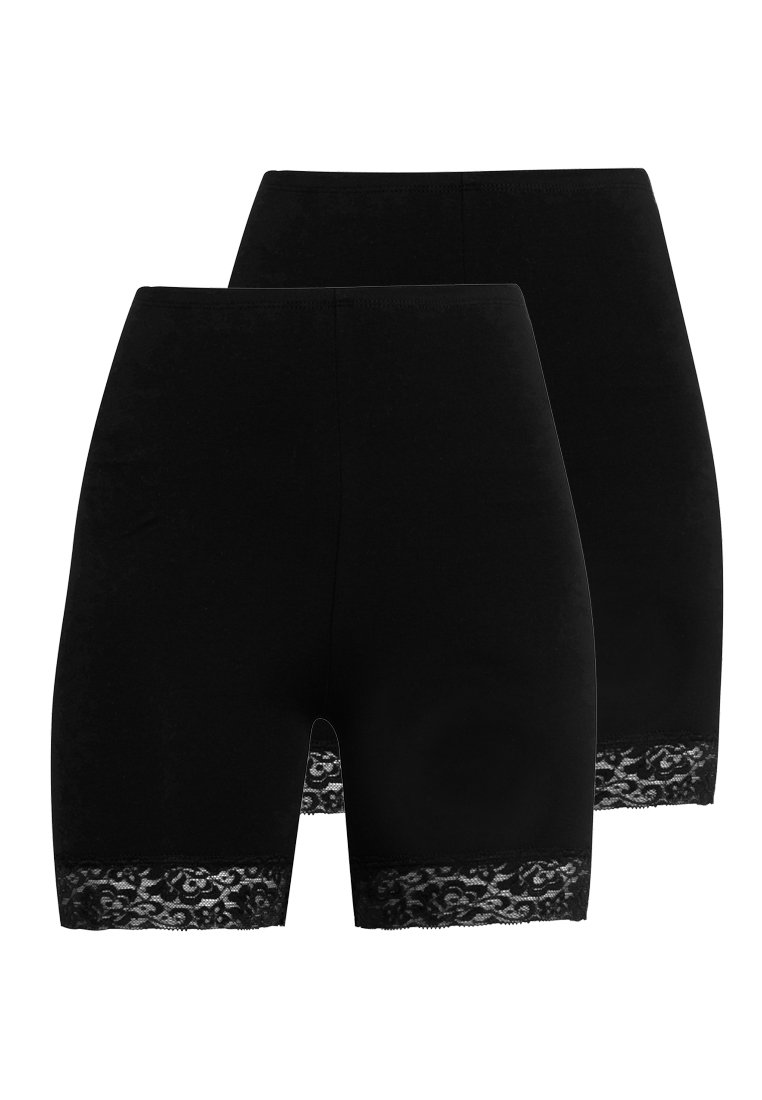 ONLY - ONLLIVE LOVES 2 PACK - Shorts - black