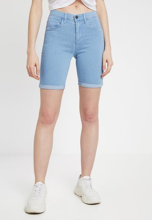 ONLRAIN MID LONG  - Jeansshorts - light blue denim