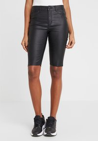 ONLY - ONLANNE LONG COATED SHORTS - Short - black - 0