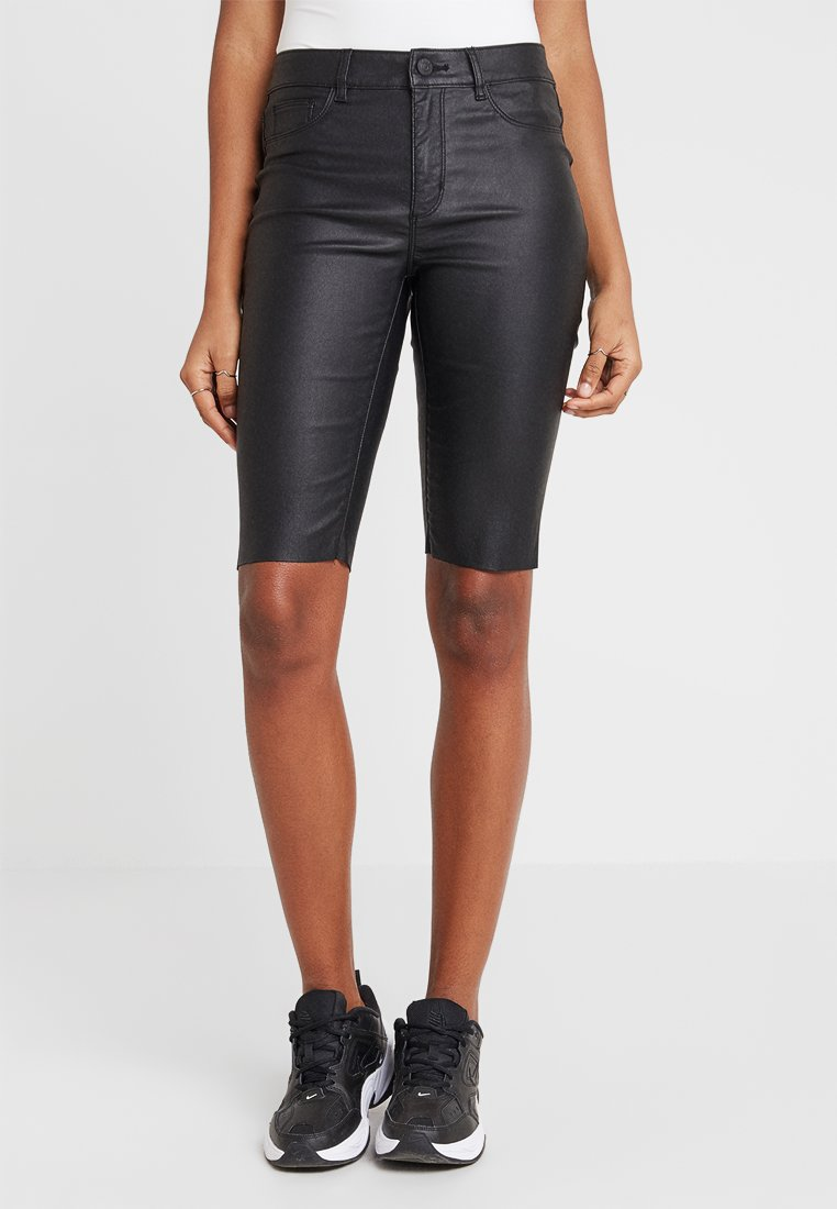 ONLY - ONLANNE LONG COATED SHORTS - Short - black