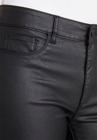 ONLY - ONLANNE LONG COATED SHORTS - Short - black - 4