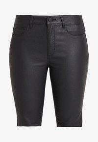 ONLY - ONLANNE LONG COATED SHORTS - Short - black - 3