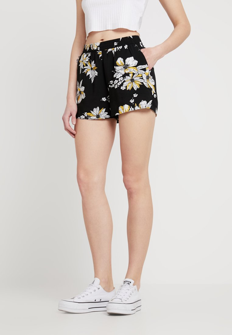 ONLY - ONLNOVA - Shorts - black/yellow