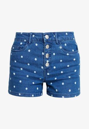 ONLPACY HOT DOT  - Shorts - medium blue denim