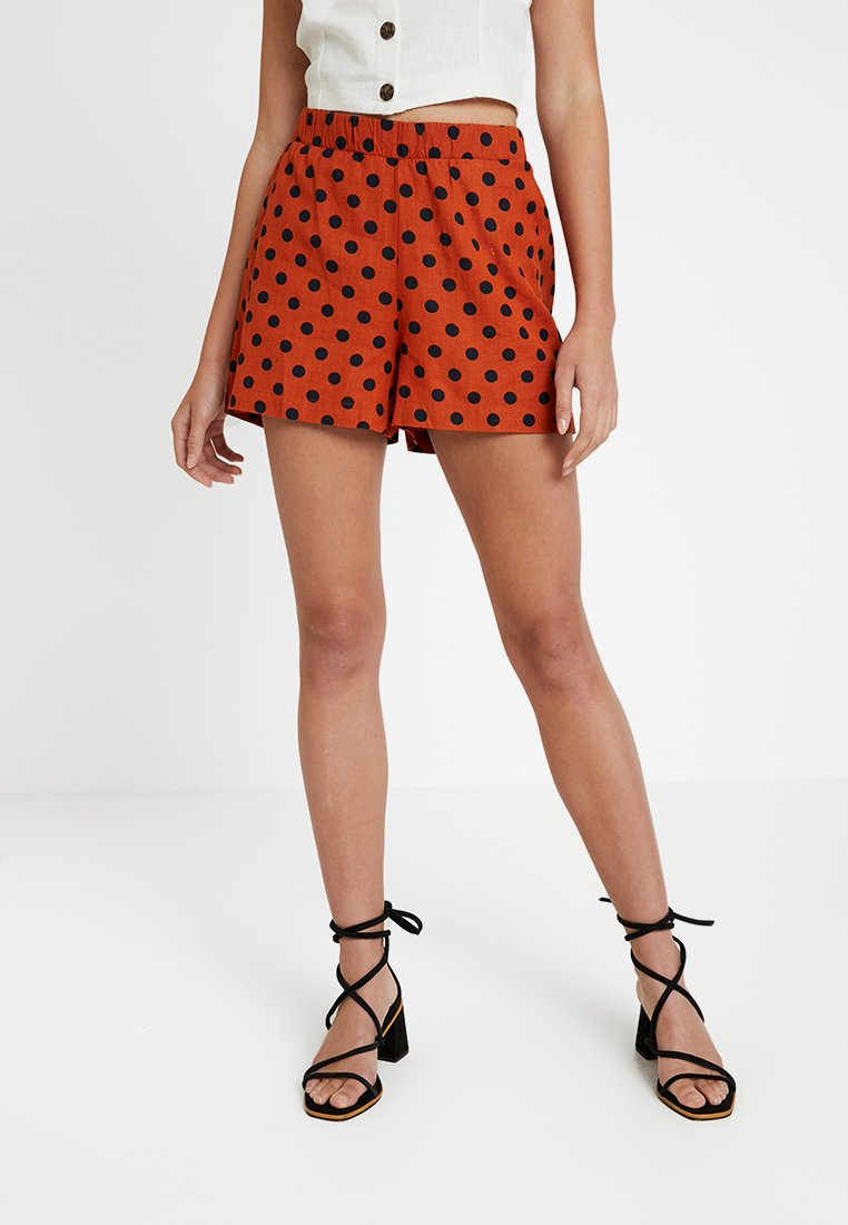 ONLY - ONLDOTTY  - Shorts - potters clay/big black