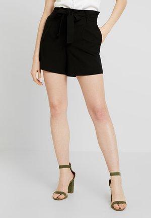 ONLNICOLE ELASTIC PAPERBACK - Shorts - black