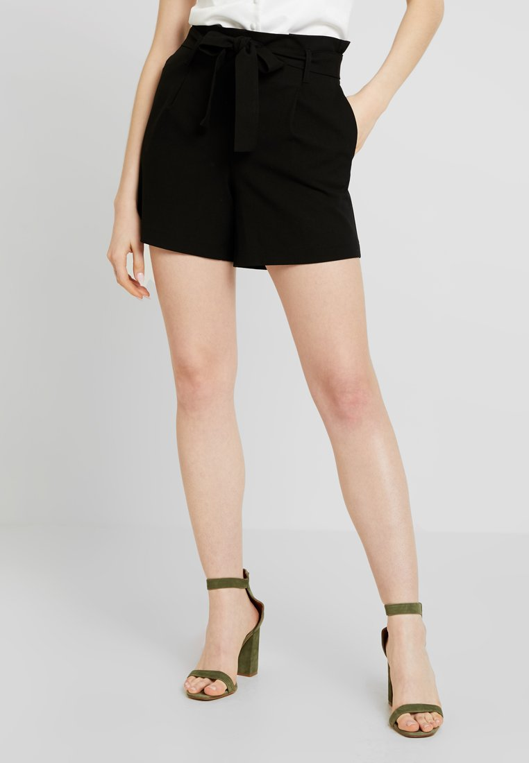 ONLY - ONLNICOLE ELASTIC PAPERBACK - Shorts - black