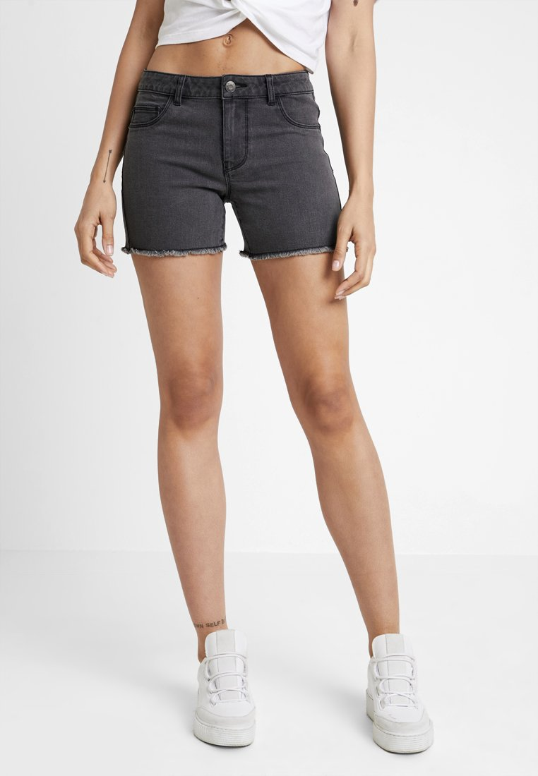 ONLY - ONLMOON BOX - Jeans Shorts - black denim