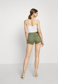 ONLY - ONLHUSH BUTTON BOX - Shorts di jeans - kalamata - 2