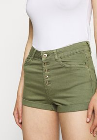ONLY - ONLHUSH BUTTON BOX - Shorts di jeans - kalamata - 4