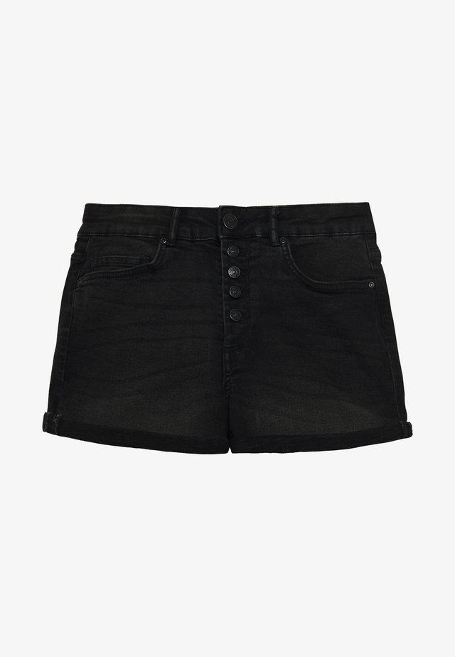 ONLHUSH BUTTON BOX - Shorts vaqueros - black