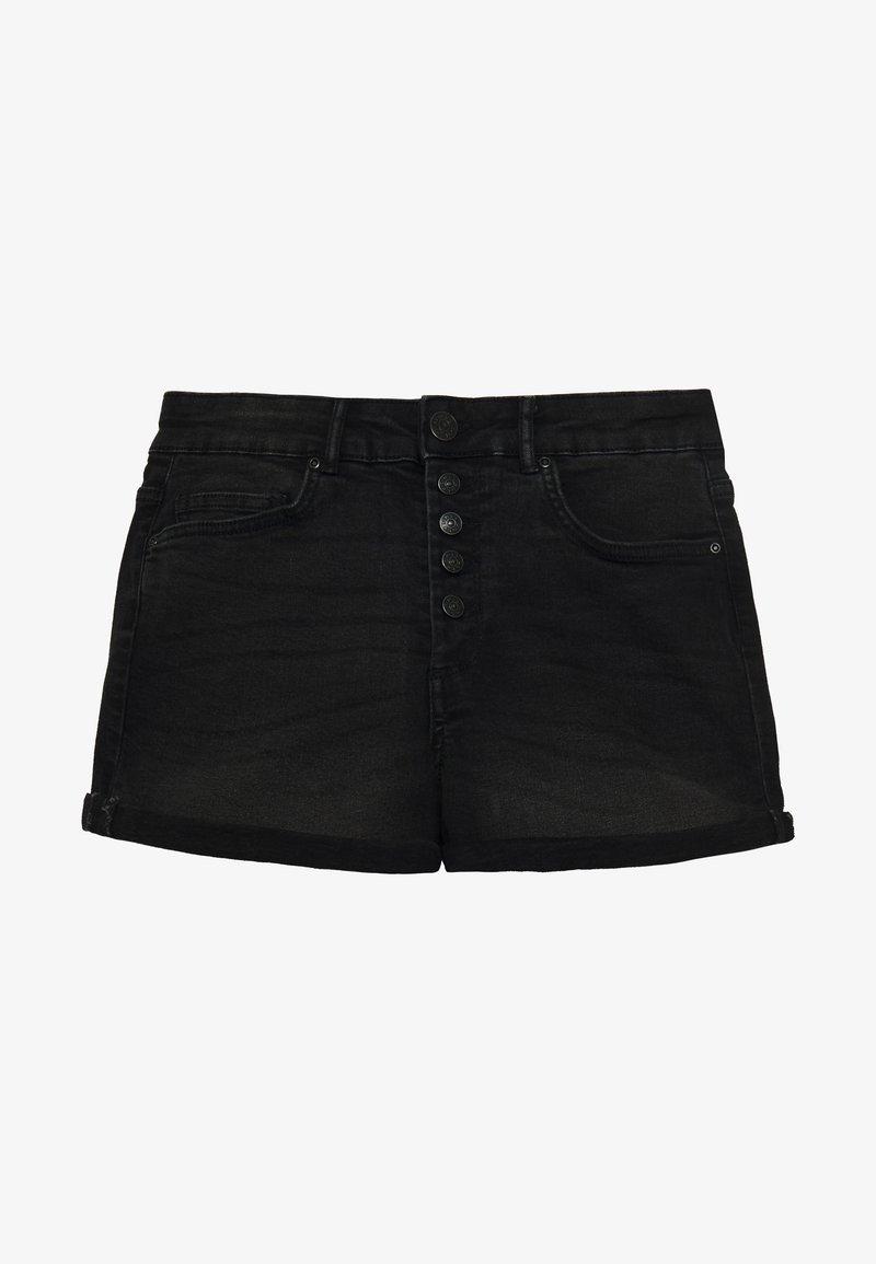 ONLY - ONLHUSH BUTTON BOX - Shorts di jeans - black