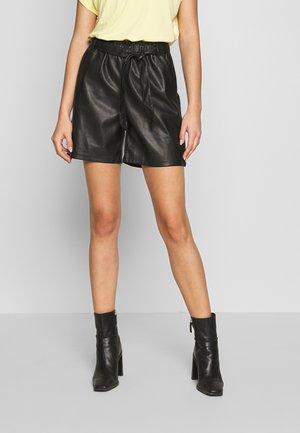 ONLRIGIE PAPER BAG - Kalhoty - black