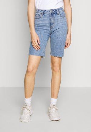 ONLEMILY LONG  - Denim shorts - light blue denim