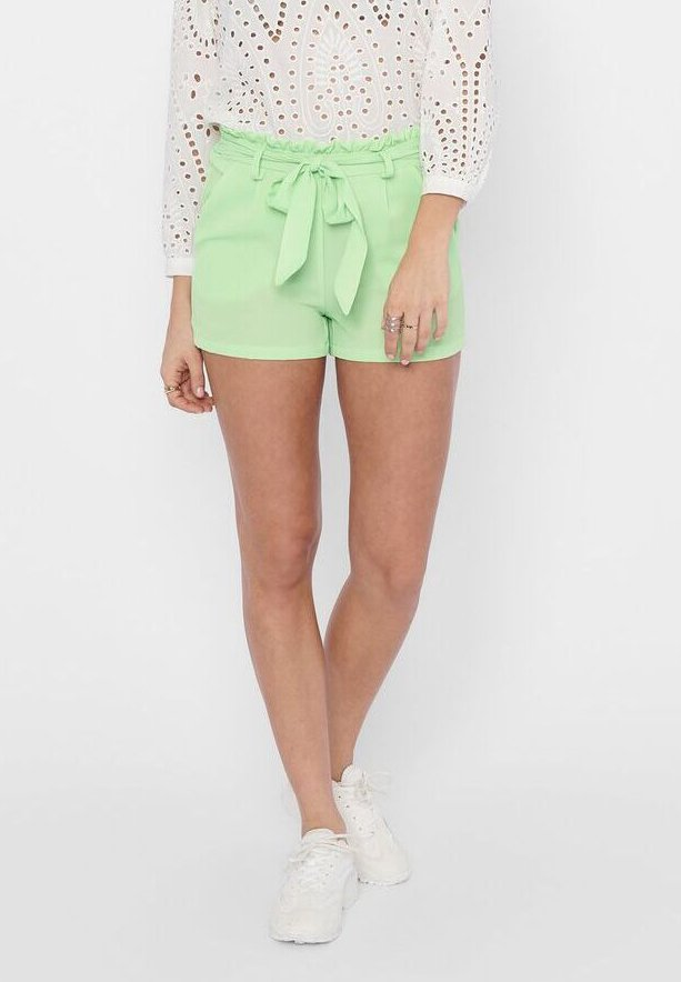 ONLY - PAPERBAG - Shorts - pastel green
