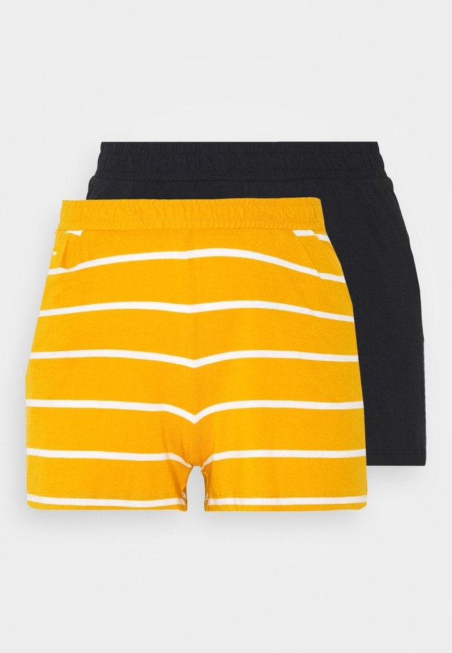 ONLMAY LIFE STRIPE 2PACK  - Shorts - black/golden spice