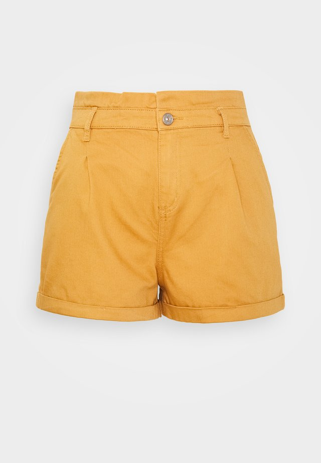 ONLKOSMA ILIANA LIFE  - Shorts vaqueros - golden/brown