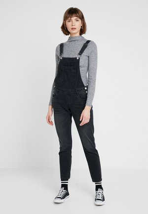 ONLKIM WITTY LOOSE OVERALL - Dungarees - black denim