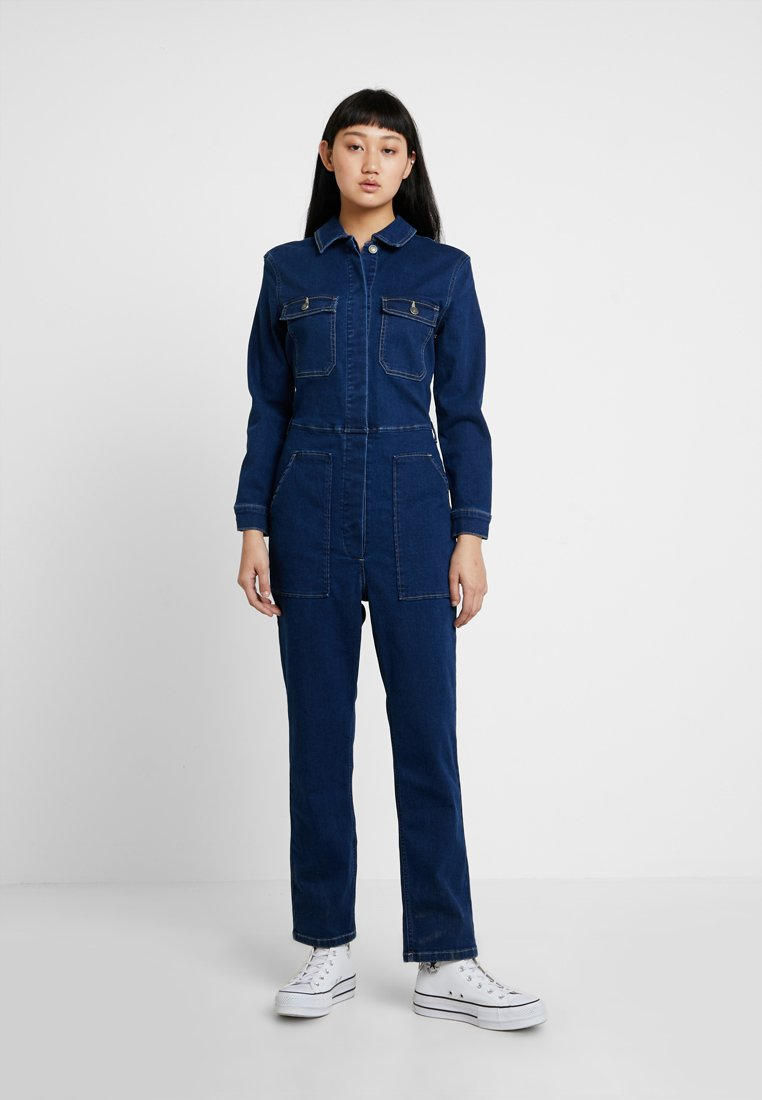 ONLY - ONLFEXK FOOL BOILER SUIT - Overall / Jumpsuit /Buksedragter - medium blue denim