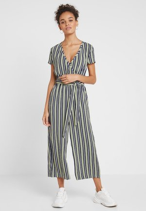 ONLROSE - Jumpsuit - oil green/bright white/night sky