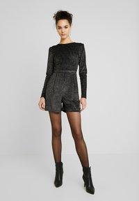 ONLY - ONLLOVABLE GLITTER - Tuta jumpsuit - black - 1