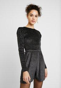 ONLY - ONLLOVABLE GLITTER - Tuta jumpsuit - black - 0