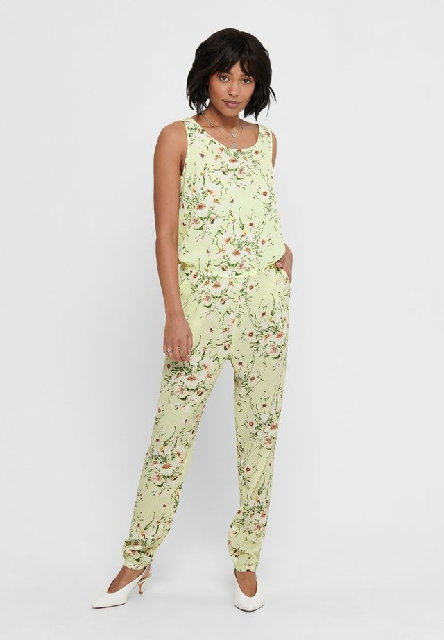 Jumpsuit - pale lime yellow