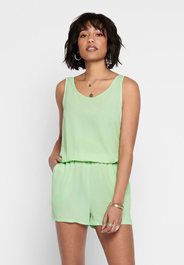 PLAYSUIT ÄRMELLOSER - Jumpsuit - pastel green