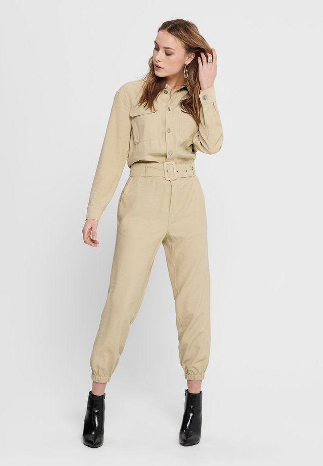 LONG SLEEVED - Jumpsuit - sand