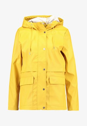 ONLTRAIN SHORT - Waterproof jacket - yolk yellow