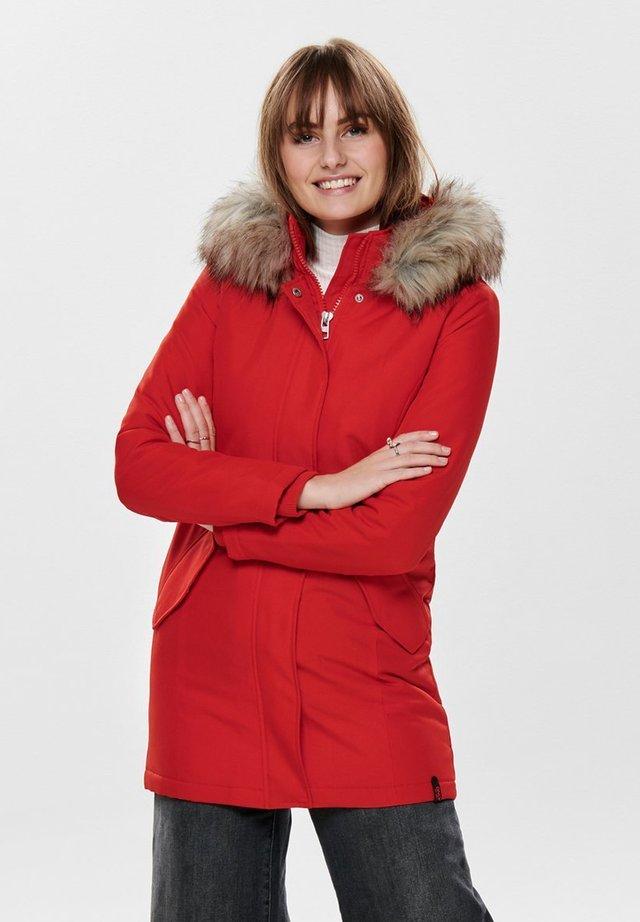 ONLKATY COAT - Abrigo de invierno - fiery red