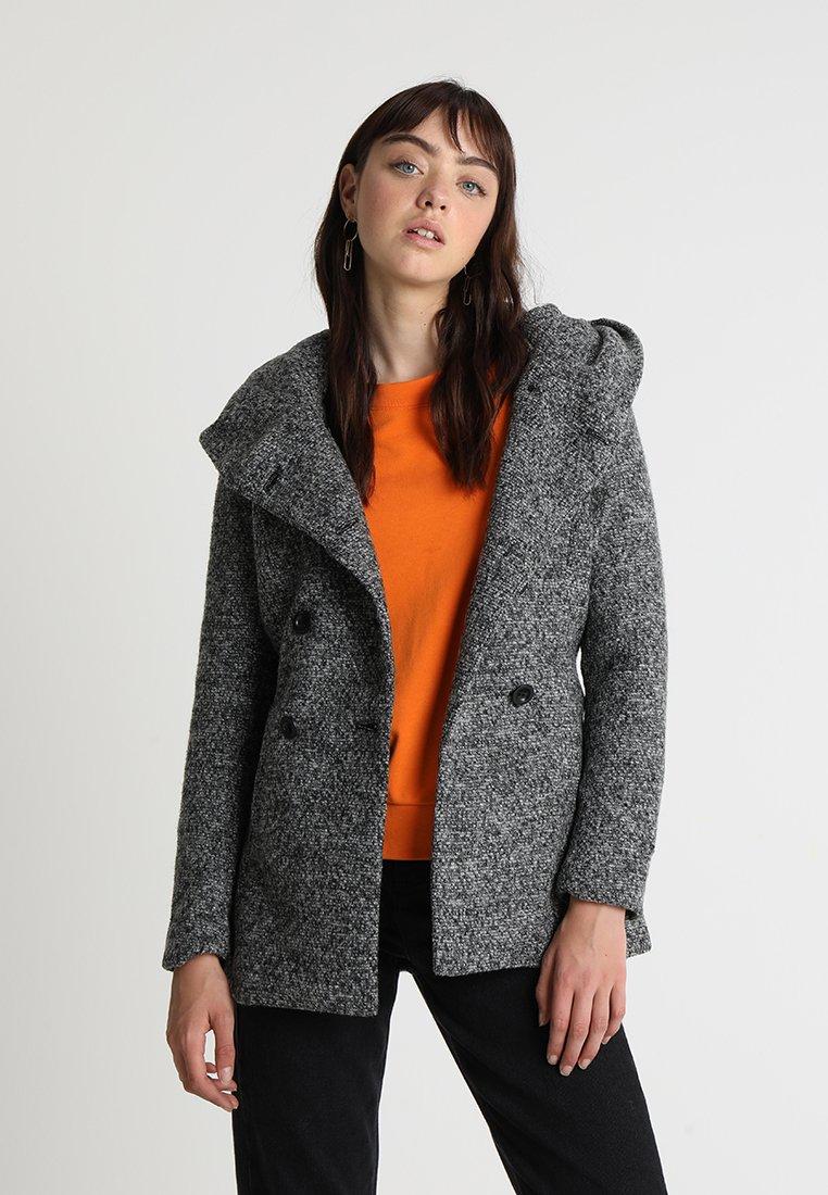 ONLY - ONLLISA HOODED COAT  - Übergangsjacke - medium grey melange
