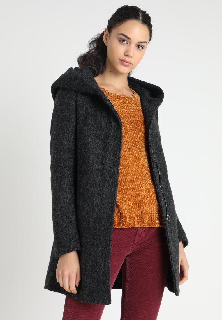 ONLY - ONLSEDONA MARBLE COAT - Kurzmantel - black/melange