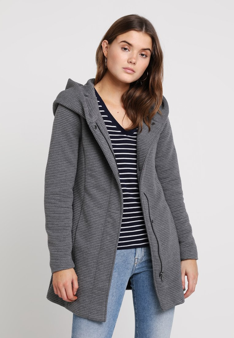 ONLY - ONLSEDONA  - Krátký kabát - dark grey melange