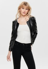 ONLY - Faux leather jacket - black - 0