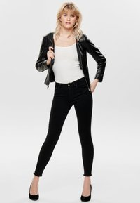 ONLY - Faux leather jacket - black - 1