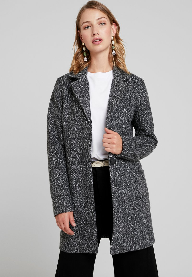 ONLY - ONLARYA COAT - Abrigo corto - dark grey melange