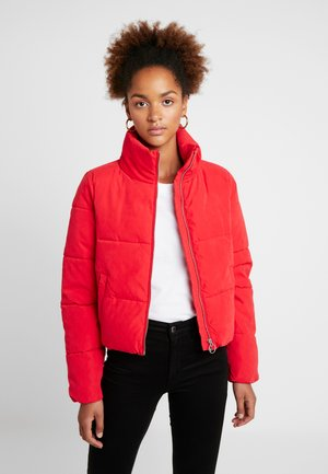 ONLDINA SHORT QUILTED PUFFER - Zimní bunda - chinese red
